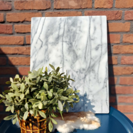 Vintage grijs marmeren plaat ; 51 x 40,6 cm