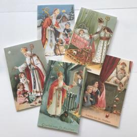 Sinterklaas kaarten, set van 5
