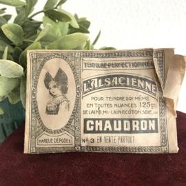 "Vintage frans zakje ""L 'Alsacienne"" , Chaudron, haarverf"