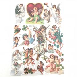 Poezie plaatjes  cherubijntjes/ engelen  nr. 7179