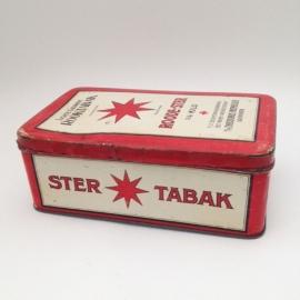 Vintage blik Roode ster tabak