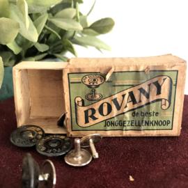 """Vintage doosje  """"Rovany"""" de beste vrijgezellenknoop"""