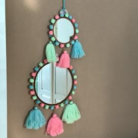 Pom Pom spiegel India 18 cm