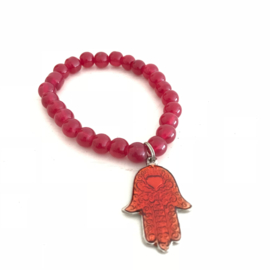 SALE: Hand van Fatima/ Hamsa hanger aan armband