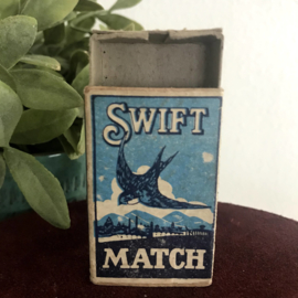 """Vintage lucifer doosje  """"Swift Match by """"Maguire & Patterson"""""""