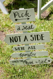 "HUREN bord: ""Take a seat, not a side, we're all family once the knot is tied"" ♥ Nr. 8"