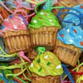 Geluks cupcakes, 5 stuks
