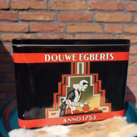"Vintage groot blik ""Douwe Egberts"" (XL)"