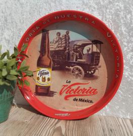 """Vintage """"La Historia de Nuestra Victoria"""" bier dienblad nr. 4"""