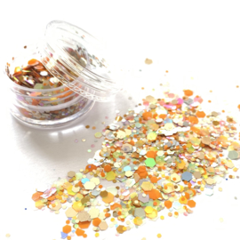 Glitters chuncks 1/2/3 mm MIX 4