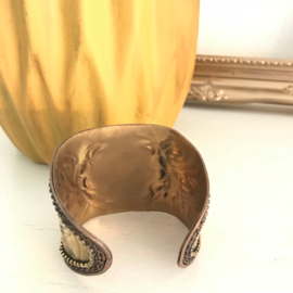 "Armband ""goud"" India nr. 7, handgemaakt"