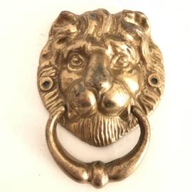 """Vintage messing deurklopper """"leeuwenkop"""""""
