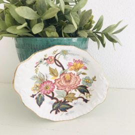 Vintage porseleinen schaaltje bloemen, H. Aynsley & Co Ltd ( 8 voorradig)