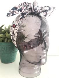 """Haarband met ijzerdraad """"uit eigen atelier"""", Indonesische print 5"""