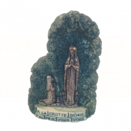 """SALE: Oud resin """"beeldje"""" Lourdes"""