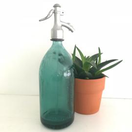 Vintage emerald groene spuitfles in mooie staat