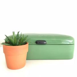 Vintage broodtrommel groen nr. 2