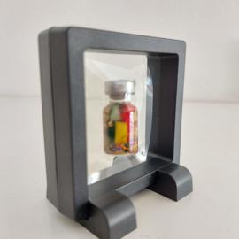 """Display """"window"""" frame met zéér rekbaar folie 7 x 7 cm"""