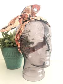 """Haarband met ijzerdraad """"uit eigen atelier"""", Indonesische print 4"""