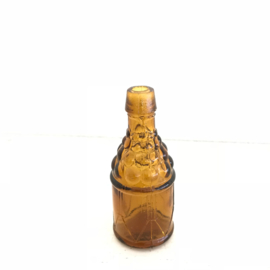 Vintage mini flesje zonder kurk bruin