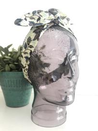 """Haarband met ijzerdraad """"uit eigen atelier"""", Indonesische print 2, korte lengte"""