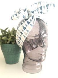 """Haarband met ijzerdraad """"uit eigen atelier"""", grafische print 2"""