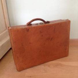 Koffer leder vintage