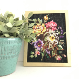 Borduur schilderij Bloemen nr. 1