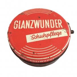 """Vintage blik """"glanzwunder schuhpflege"""""""