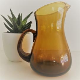 Vintage glazen kan bruin