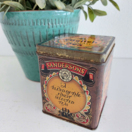 "Vintage blik ""Sanderson's""; English Breakfast Tea"