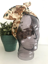 """Haarband met ijzerdraad """"uit eigen atelier"""", Indonesische print 3"""