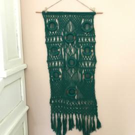 Vintage macramé hanger groen