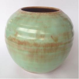Groene vintage vaas