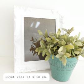 Huren:  Schilderijlijst wit, 23 x 18 cm
