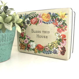 "Vintage blik ""Bless this House"""