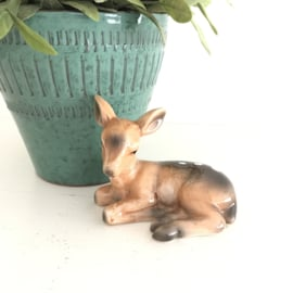 Beeldje hertje/ Bambi 4 (geglazuurd keramiek)