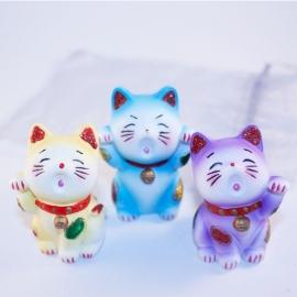Gelukskat( Maneki Neko) set van 3