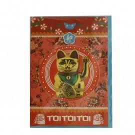 Gelukskat (Maneki Neko) kaart met envelop