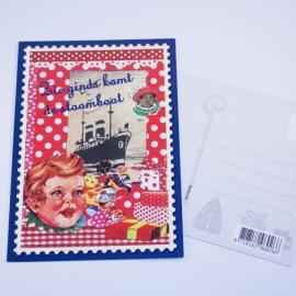 """Ansichtkaart Sinterklaas """"Zie ginds komt de stoomboot"""""""