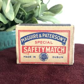 "Vintage lucifer doosje ""Maguire & Patterson"""