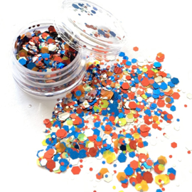 Glitters chuncks 1/2/3 mm MIX 8 (holland mix!)