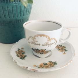 "Vintage kop en schotel, Tirschenreuth bavaria, ""Foar Beppe""  104"