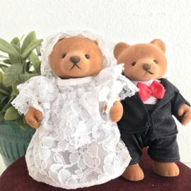 "Vintage ""Sylvanian Family/ Familie bär"" beren, getrouwd stel"