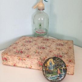 Vintage stoffen juwelen doos/box