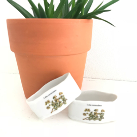 "Vintage servetringen( 2x) Botanica, ""Lotus corniculatus"""