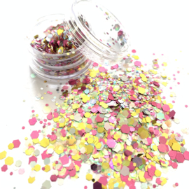Glitters chuncks 1/2/3 mm MIX 7