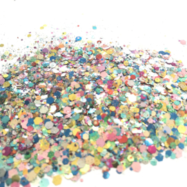 Glitters chuncks 1/2/3 mm MIX 13 (Festival)