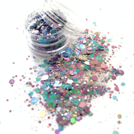 Glitters chuncks 1/2/3 mm MIX 9