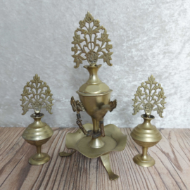 """Vintage unieke set """"Surma Dani"""", een kohl set in decoratief koper"""
